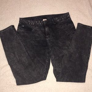 Size 12 black faded jeans